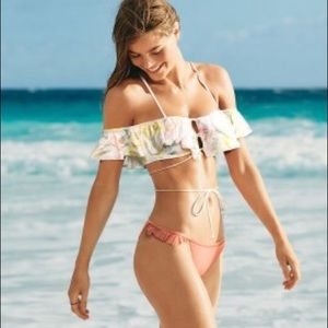 VS Pink Flutter Sleeve Body Wrap swim top